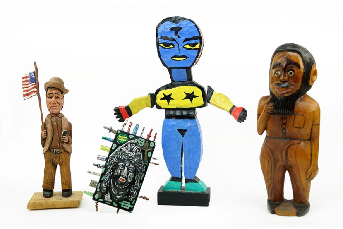 A Collection of Folk Art Sculpture.