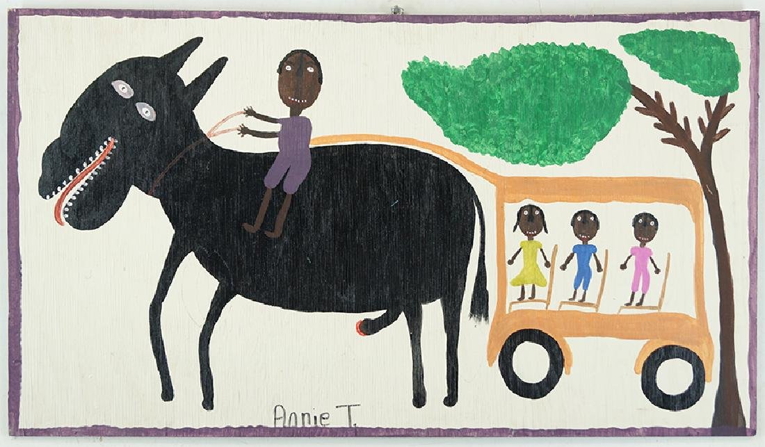 Annie Tolliver (American, B. 1950) My Family Riding