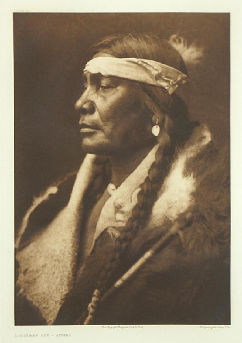 Edward Curtis (American, 1868-1952) Assiniboin Boy -