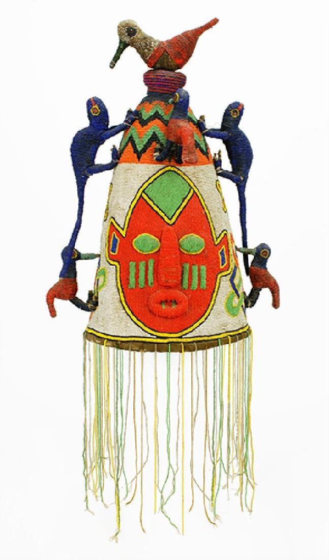 An African Yoruba Beaded Crown.