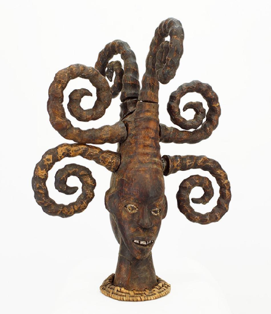 An Ekoi Janus Headdress.