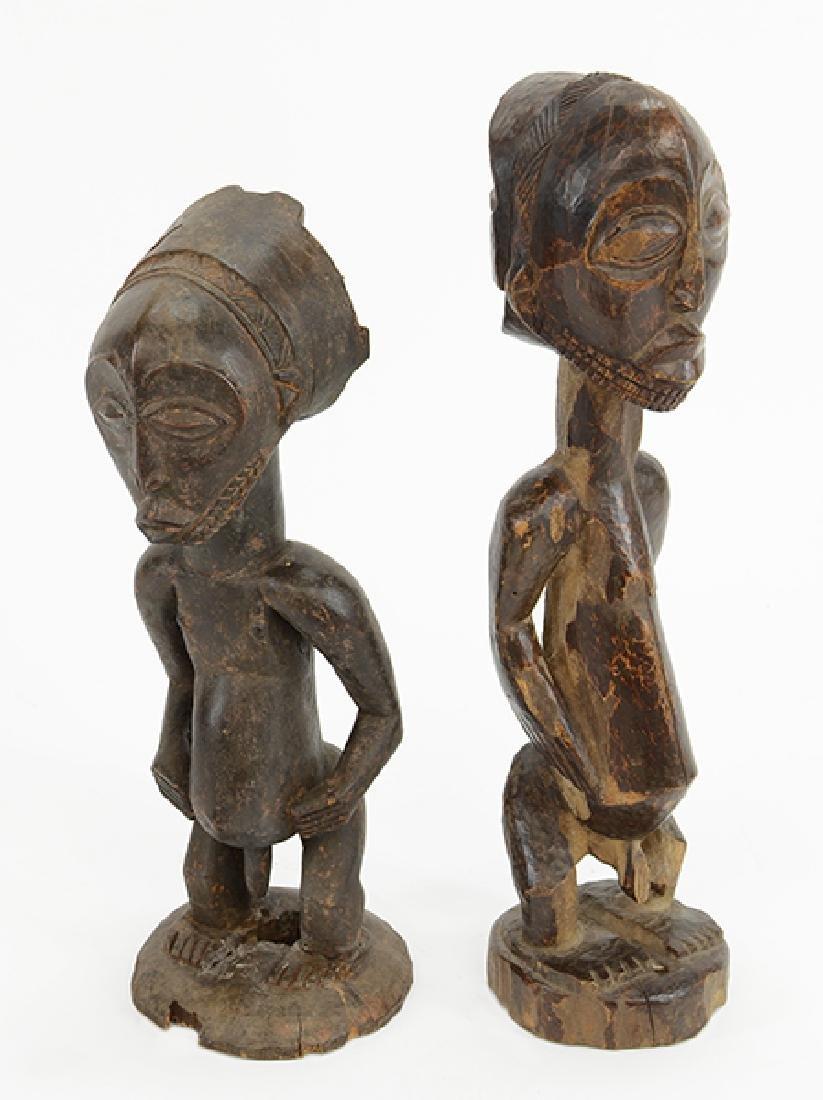 Two Hemba Ancestor Figures.