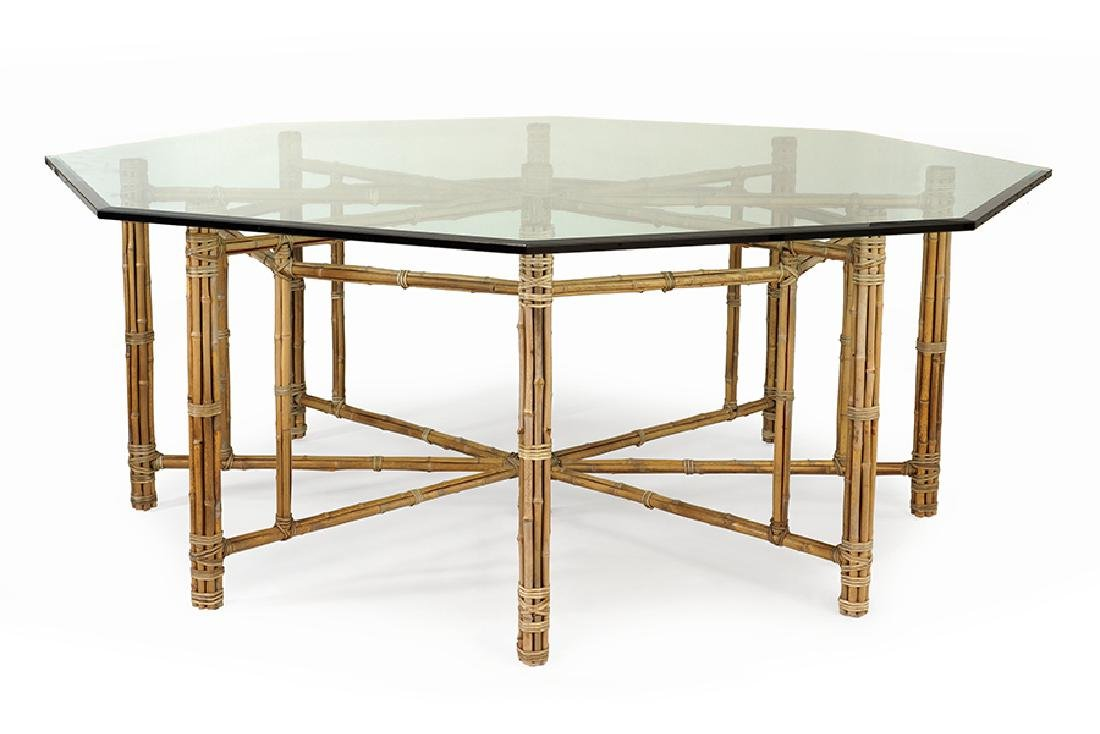A McGuire Dining Table.