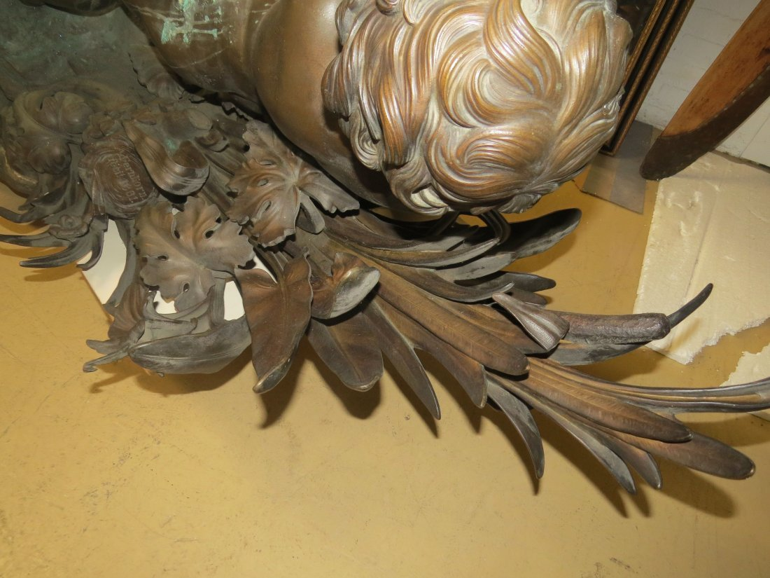A Patinated Bronze Fountain. - 6