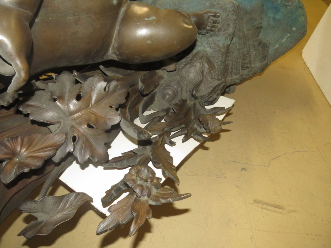 A Patinated Bronze Fountain. - 7