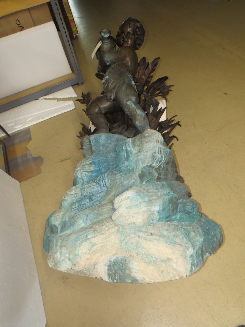 A Patinated Bronze Fountain. - 9