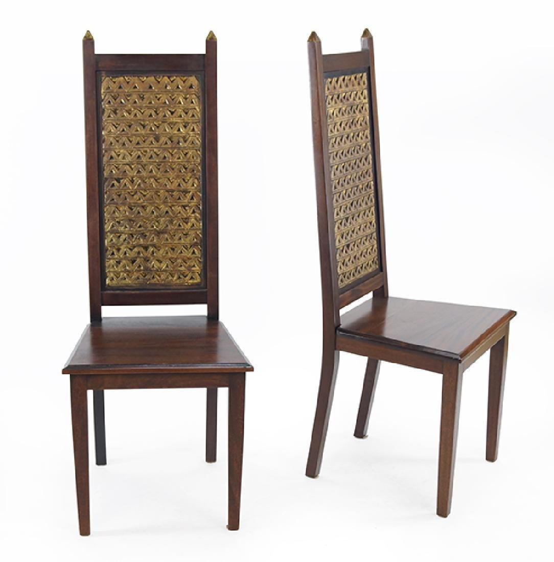 A Pair of Highback Chairs.