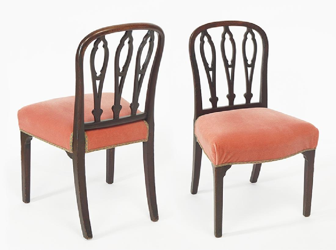 A Set of Ten Sheraton Mahogany Dining Chairs.