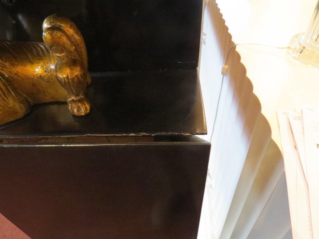 A Black Lacquer Fireplace Mantel. - 10