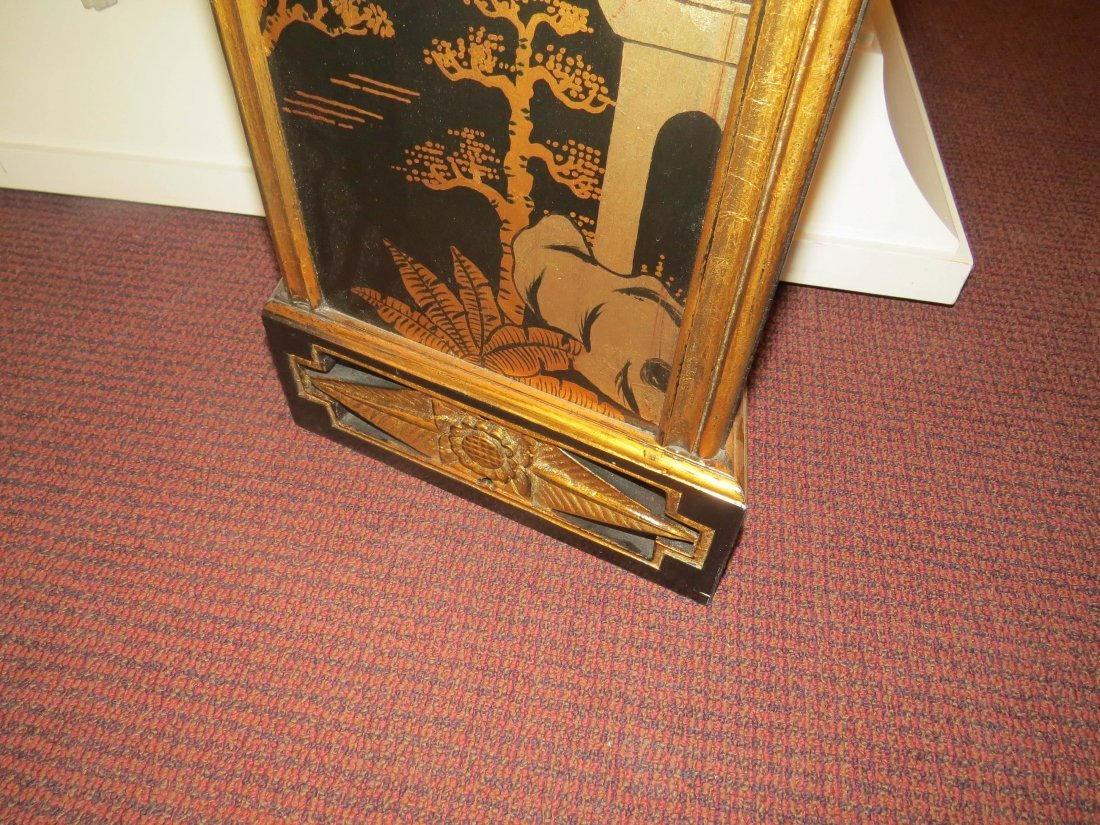 A Black Lacquer Fireplace Mantel. - 8