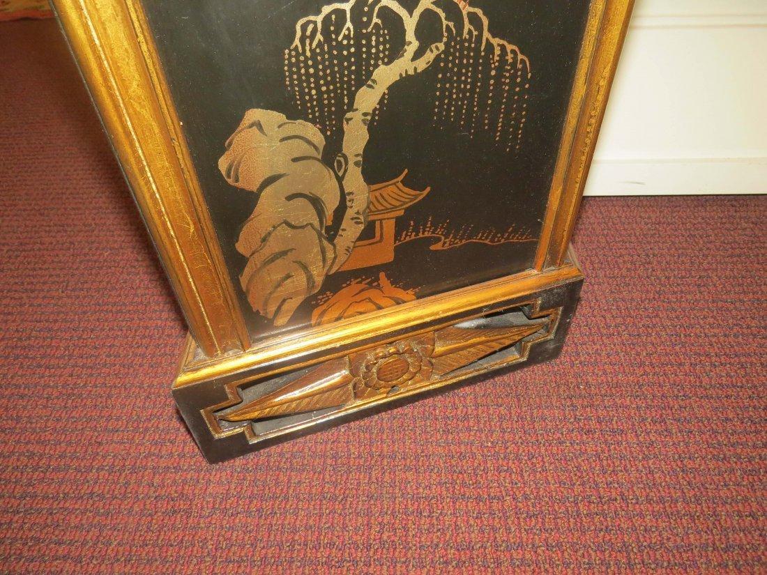 A Black Lacquer Fireplace Mantel. - 9