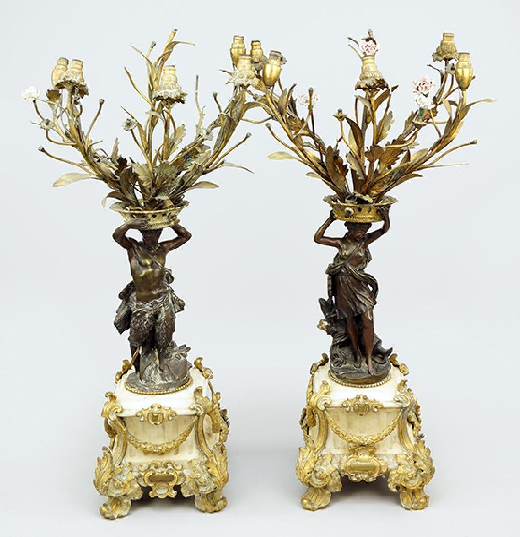A Pair of French Candelabra Table Lamps.