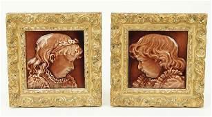 A Pair Of English Isaac Broome Tiles.