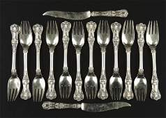 A Tiffany  Company Sterling Silver Partial Flatware