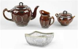 A Lenox Porcelain ThreePiece Tea Service