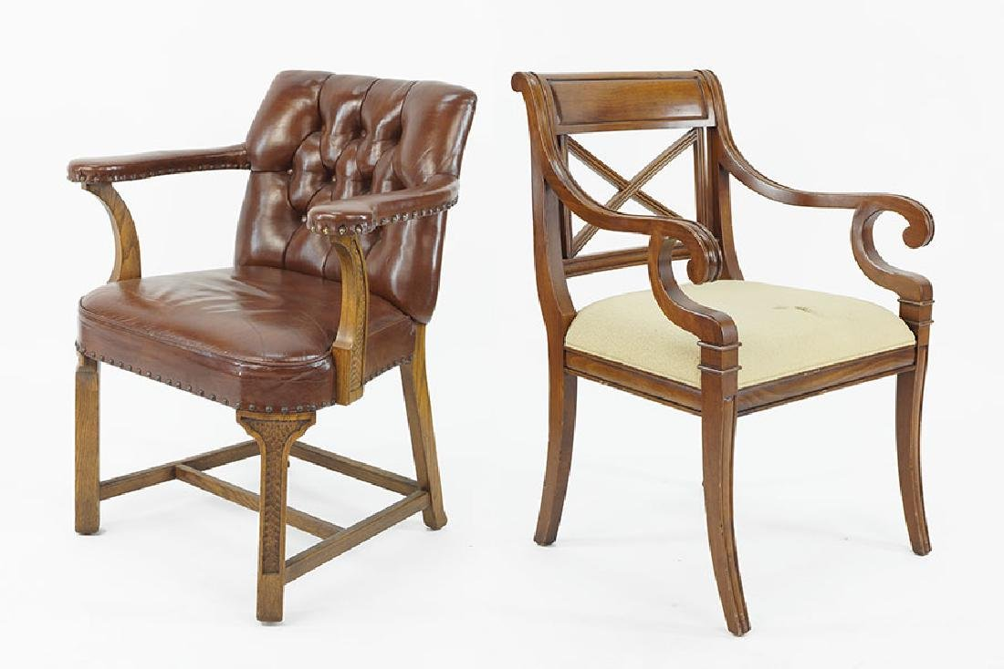 A Romweber Viking Oak Open Armchair.
