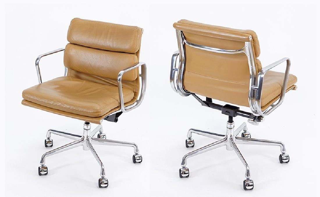 A Set Of Six Eames 'Soft Pad' Chairs.