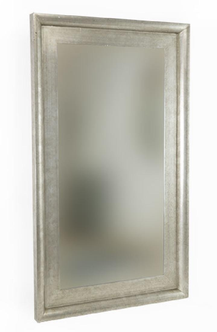 A Contemporary Silver Painted Mirror.