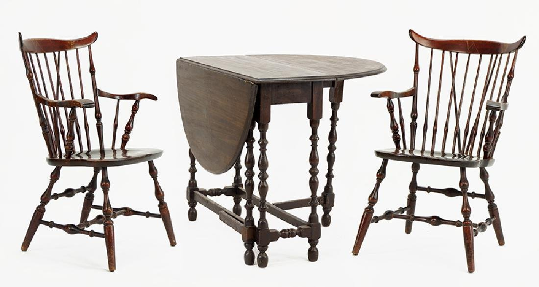 A William and Mary Style Drop Leaf Table.