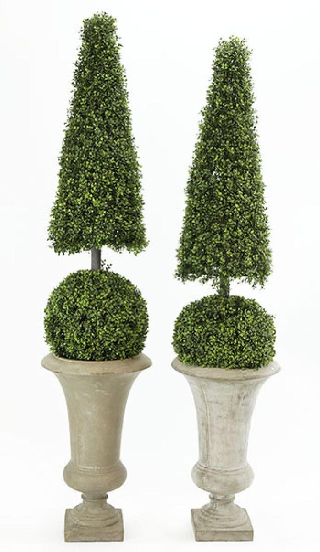 A Pair of Contemporary Topiaries.