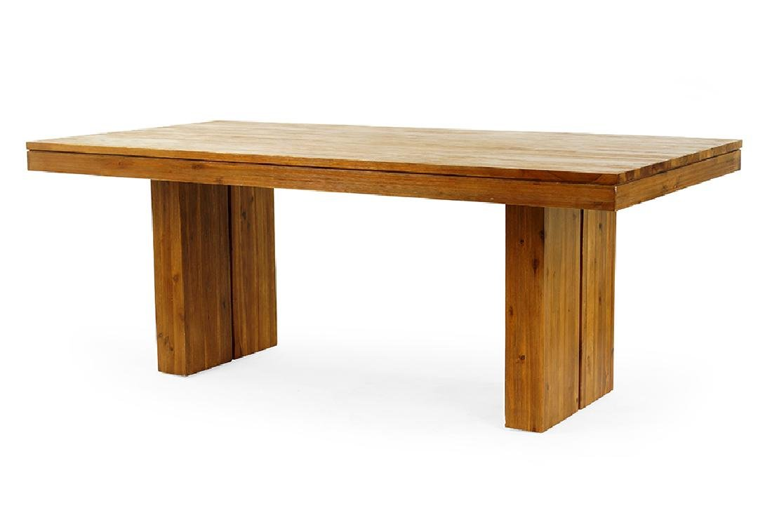 A Crescent Dining Table.