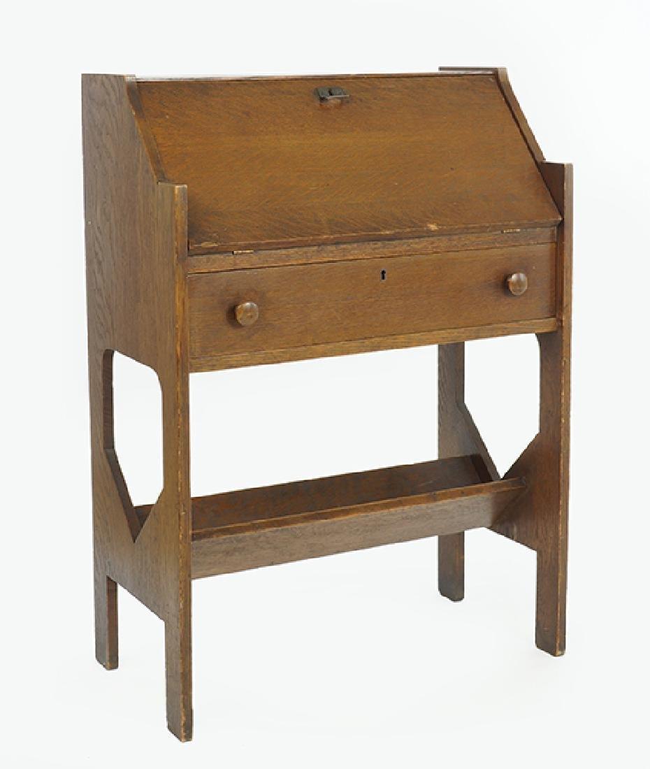 An Stickley Bros. Style Arts & Crafts Slant Front Desk.