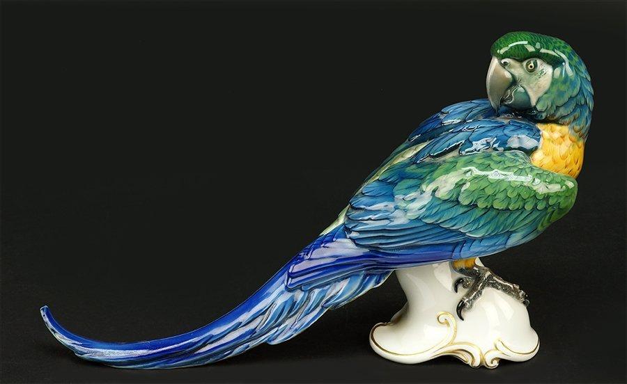 A Theodor Karner for Rosenthal Porcelain Parrot. - 2