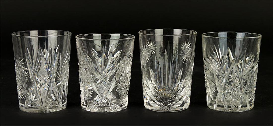 A Collection Of Crystal Old Fashioned Glasses.