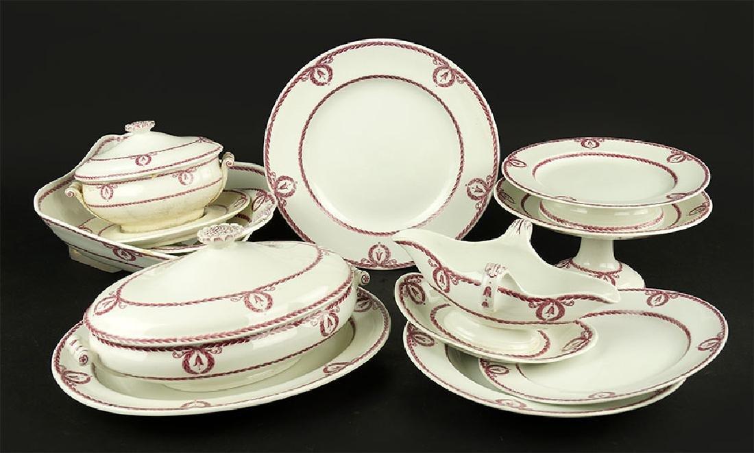 A Wedgwood Porcelain Dinner Service.