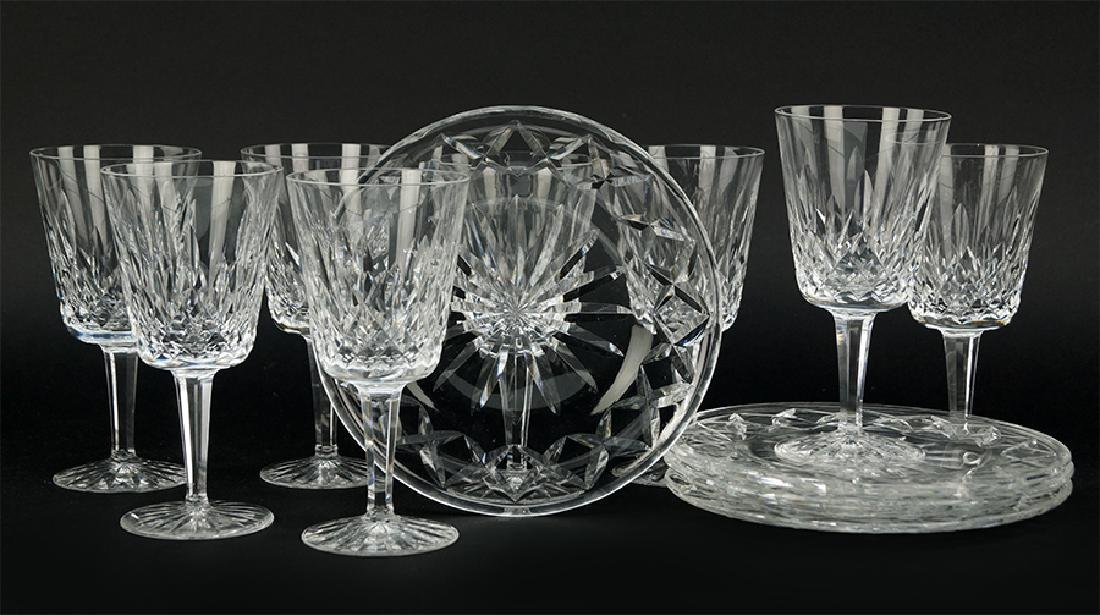 A Set Of Eight Waterford Crystal Water Goblets.
