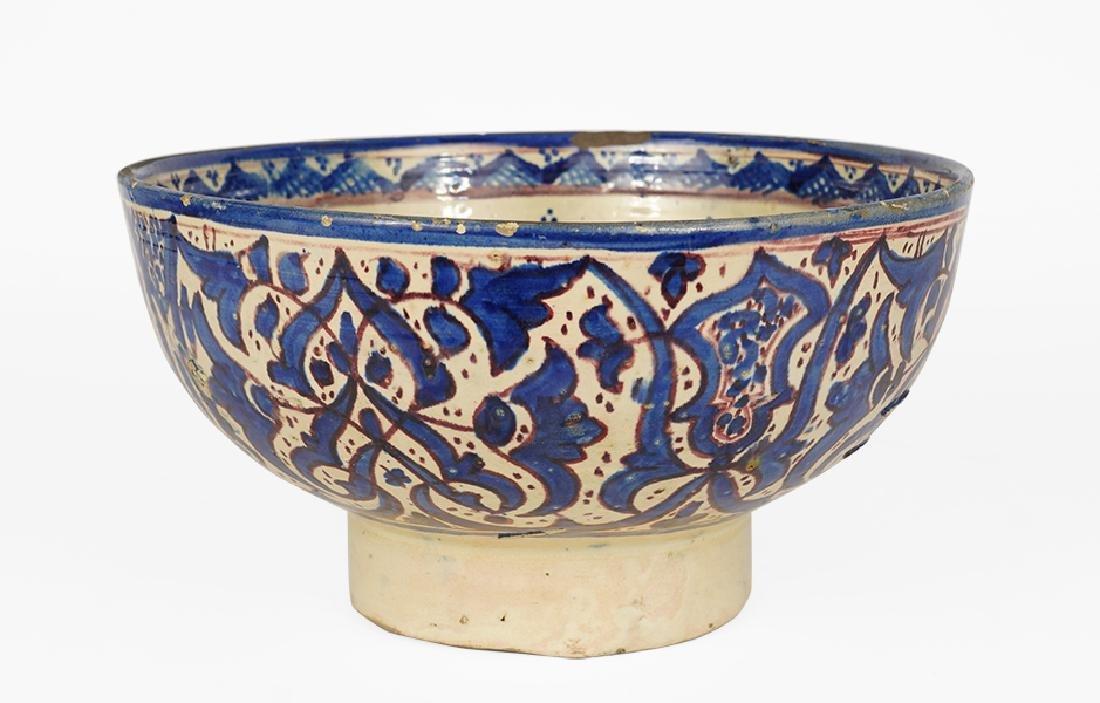 A 19th Century Moroccan Ceramic Bowl.