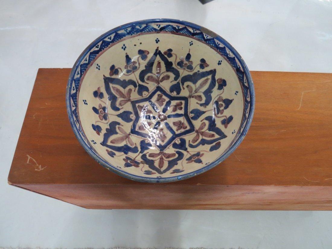 A 19th Century Moroccan Ceramic Bowl. - 2