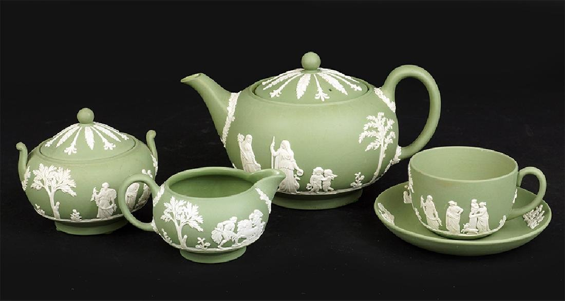 A Wedgwood Jasperware Tea Service.