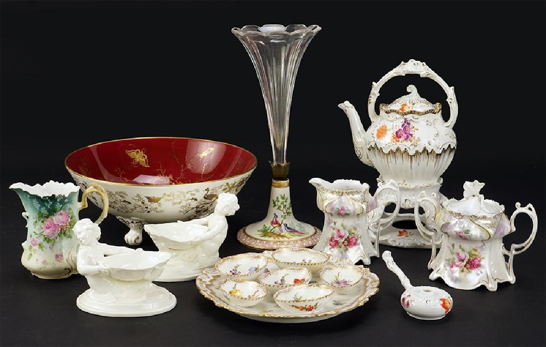 A Pair of Royal Worcester Porcelain Master Salt Dishes.
