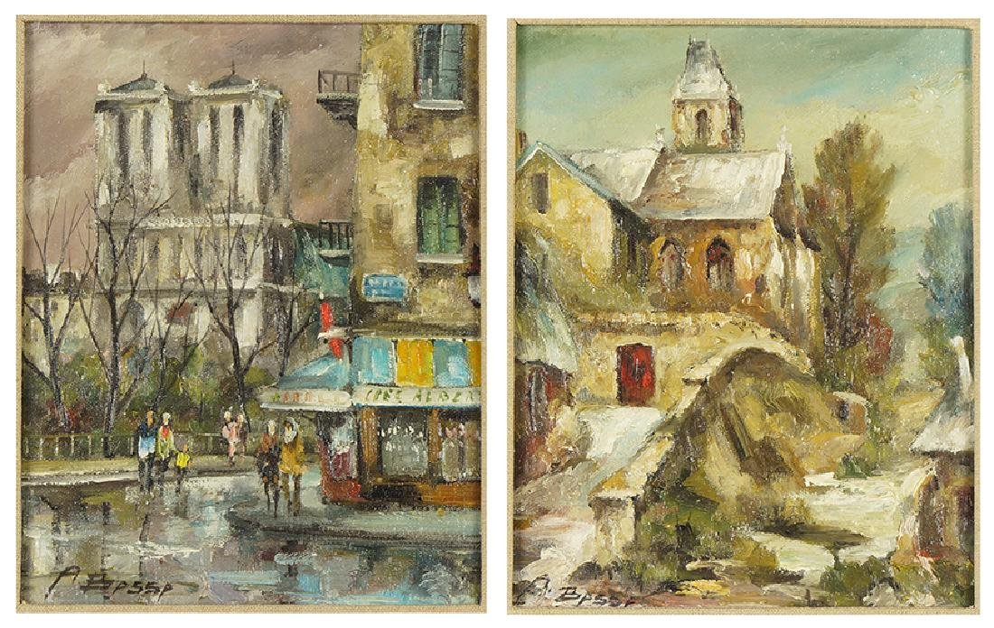 Andre Raymond Besse (French, 1922-2004) Two Works.