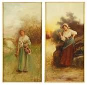 John McColvin (British, 1864-1920) Two Works.
