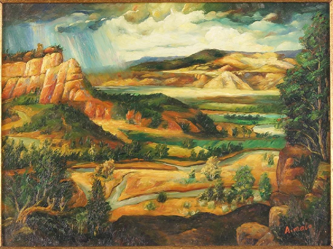 A. Melo (Contemporary) Landscape.