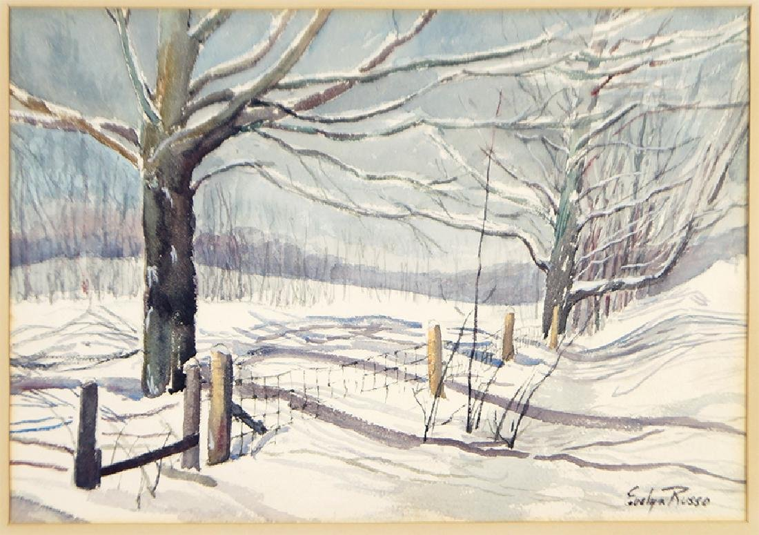 Evelyn Russo (American, 20th Century) Wisconsin Snows.
