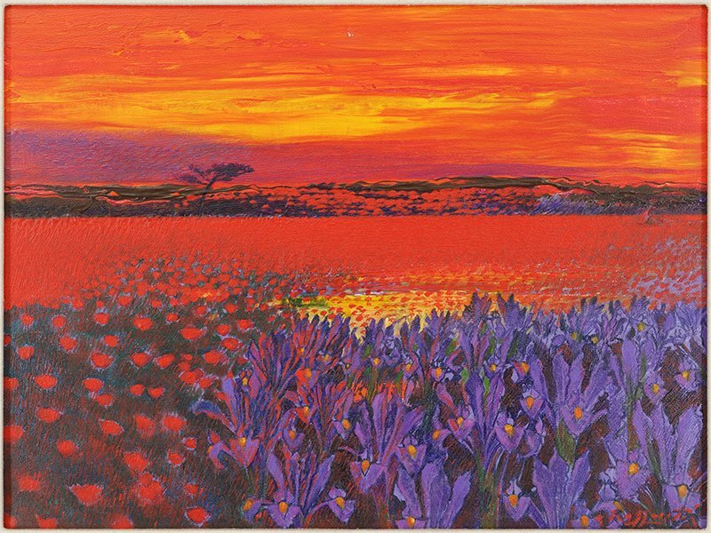Andrea Razzaauti (Italian, B. 1954) Irish Poppy Field.