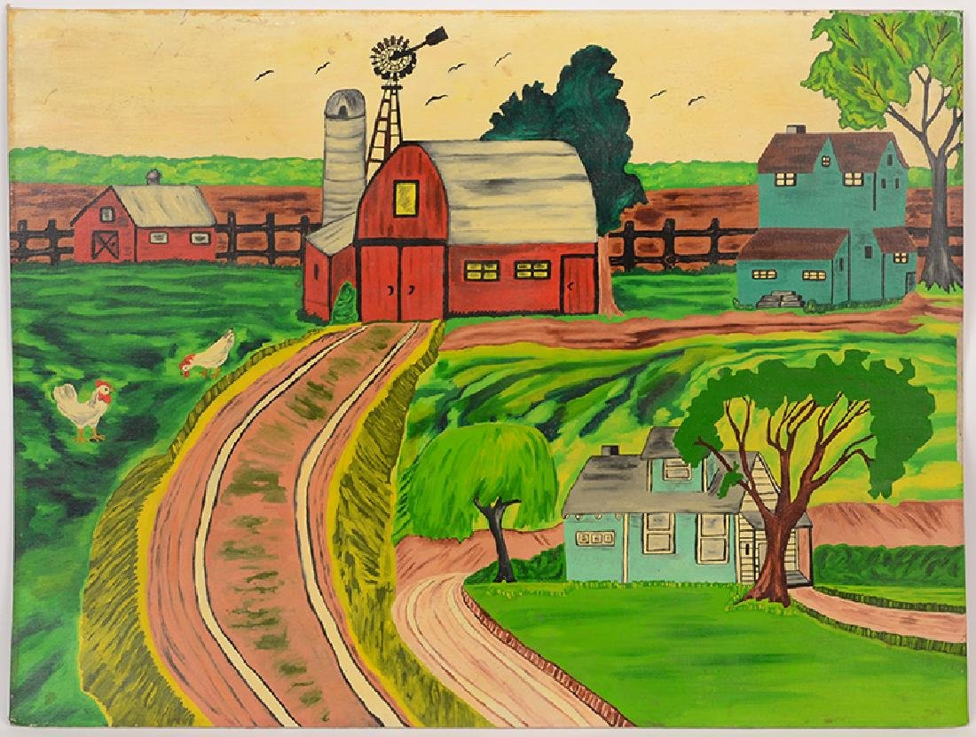 Maxine Williams (American, 20th Century) The Farm.