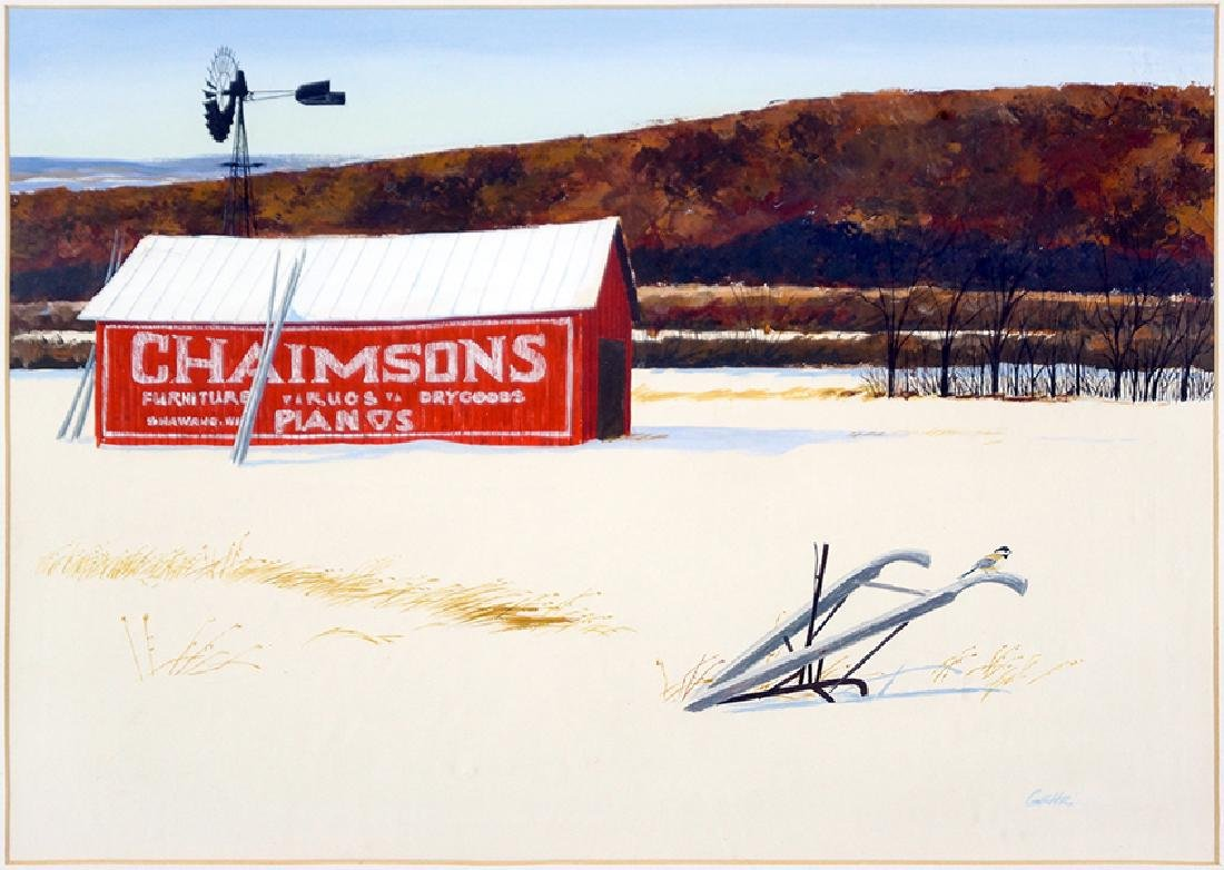 Gehr (American, 20th Century) Farm in Winter.