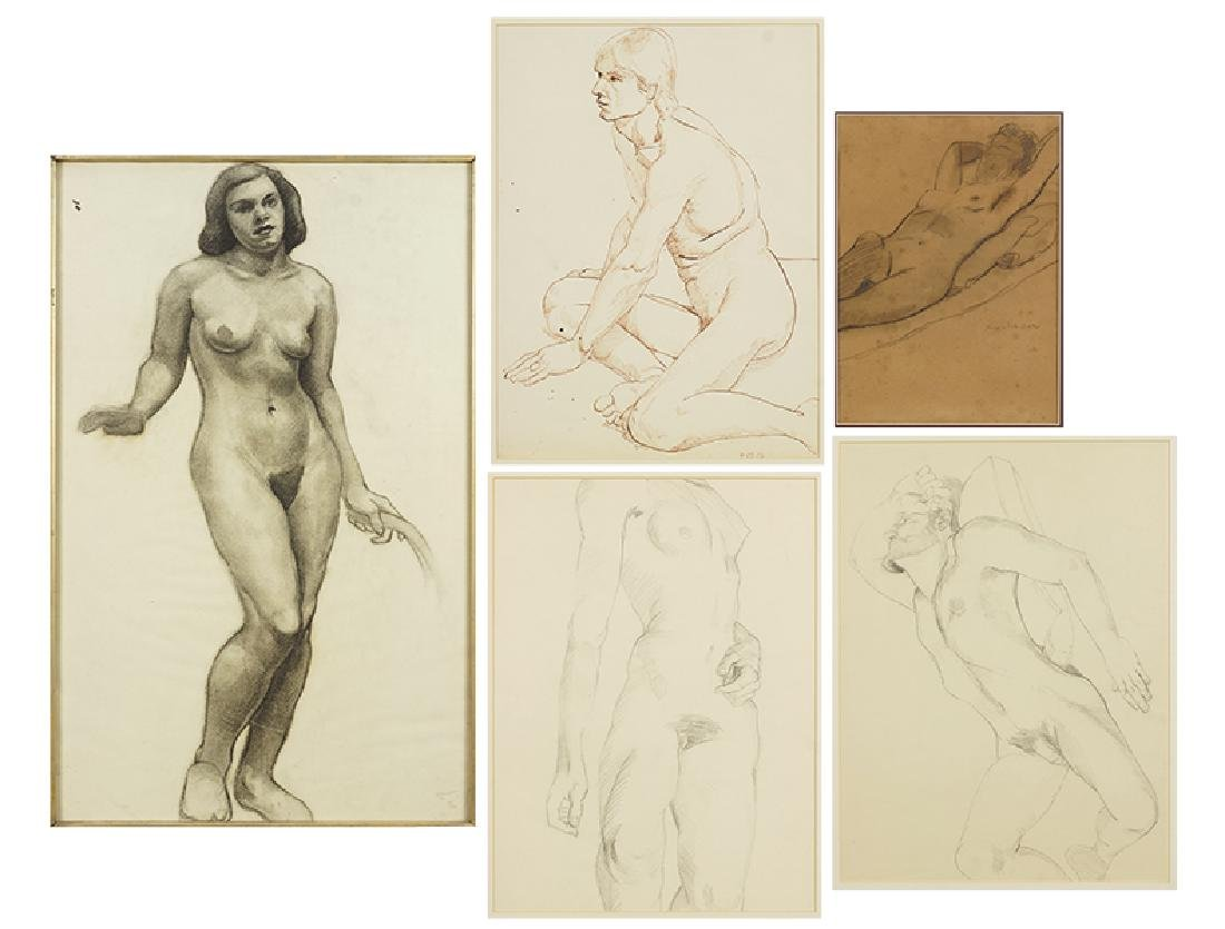 A Collection of 20th Century Figure Drawings.