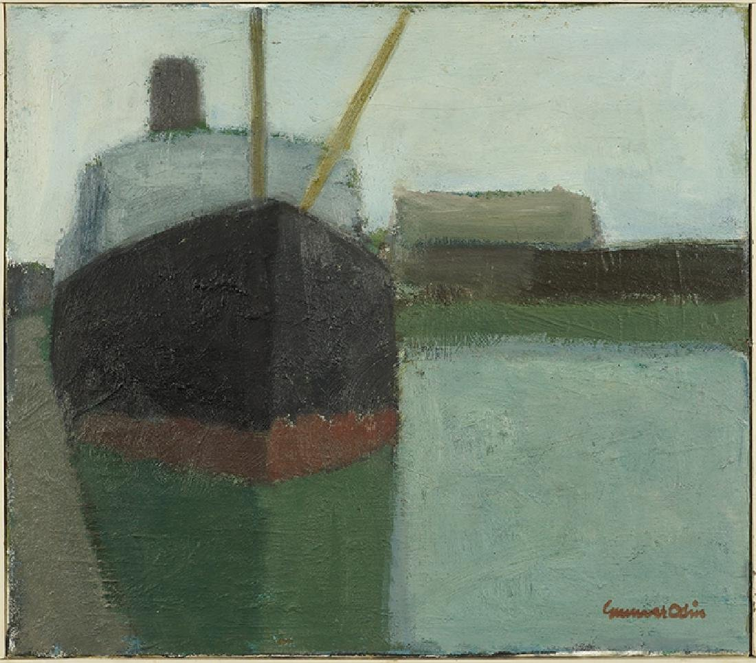 Gunnar Odin (20th Century) Freighter at Dock.