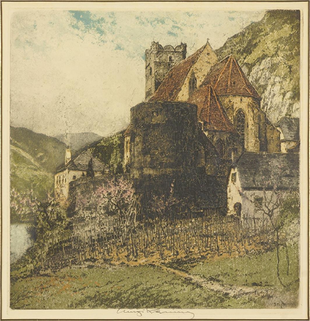 Luigi Kasimir (Austrian, 1881-1962) St. Michael on the