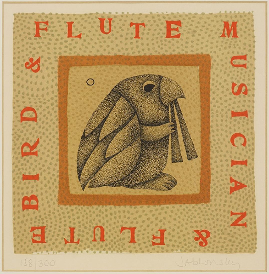 Carolyn Jablonsky (American, 1939-1992) Bird and FLute.