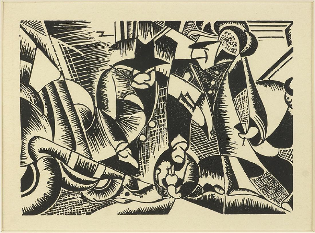 Joseph Alderkauski (American, B. 1918) Street Crime.