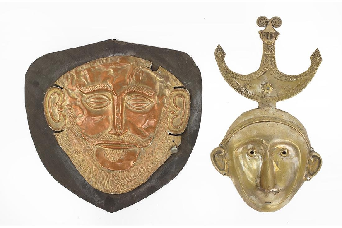 A Museum Replica Of The Mask Of Agamemnon.