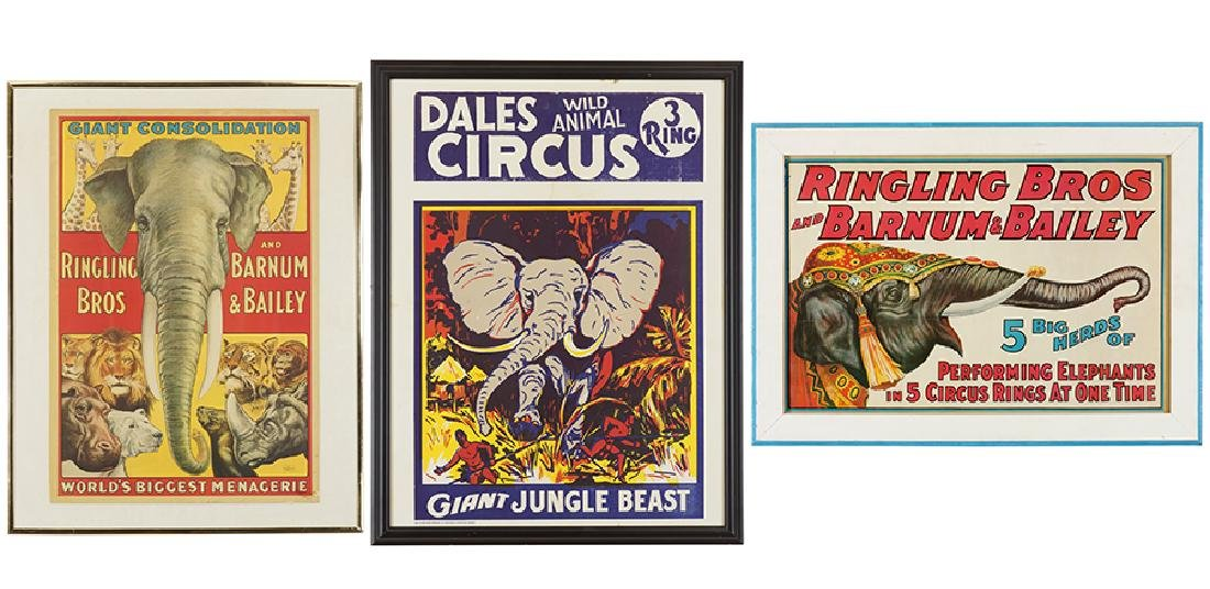 Two Reproduction Ringling Bros. Circus Posters.
