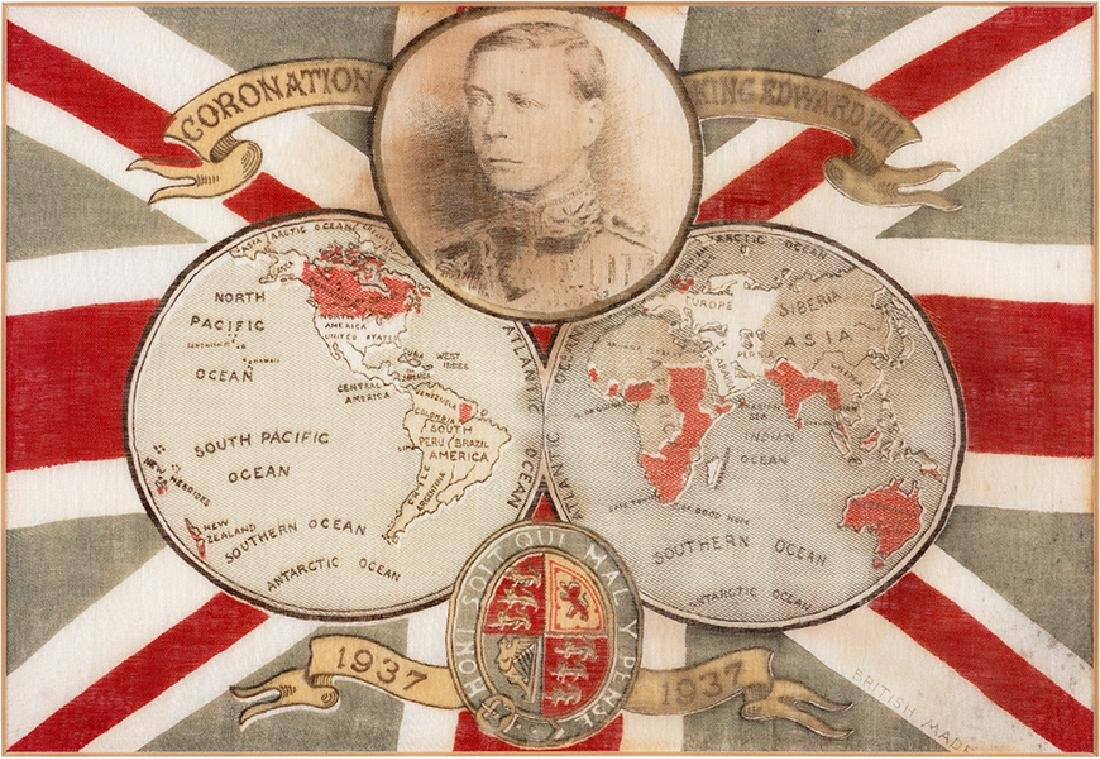 An Edward VIII 1937 Commemorative Coronation Flag.