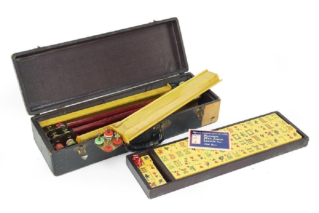 A Bakelite Mahjong Set.